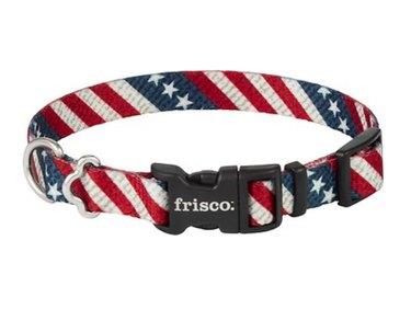 Frisco American Flag Polyester Dog Collar