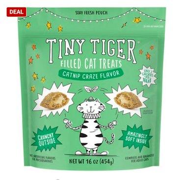 Tiny Tiger Catnip Craze Flavor Filled Cat Treats, 16-oz Bag