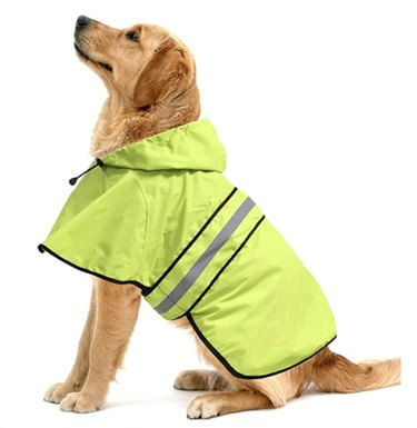 Ezierfy Waterproof Reflective Dog Raincoat