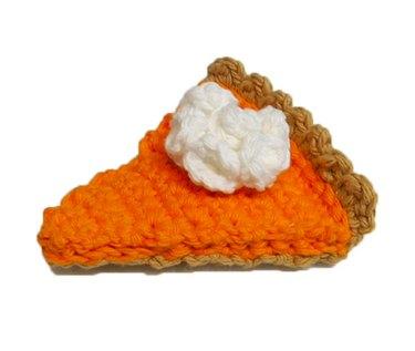 Squeaker Pumpkin Pie Dog Toy by CherryWillowPets