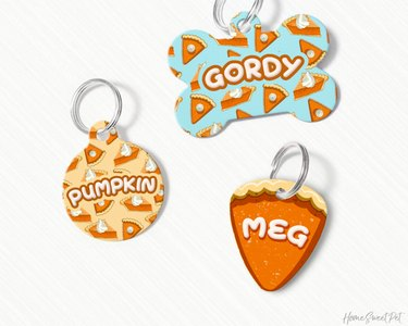Pumpkin Pie Dog and Pet ID Tags by HomeSweetPet