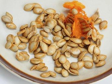 Pumpkin seeds with a pulp