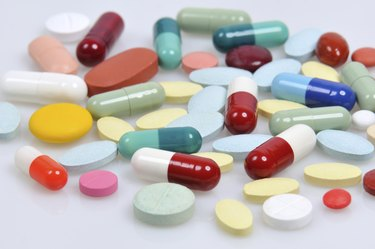 assortment of pills and capsules
