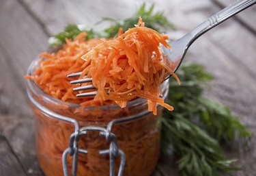 Fork with Carrot Salad