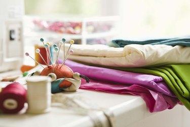 Fabrics and straight pins
