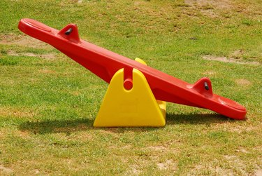 Seesaw in park