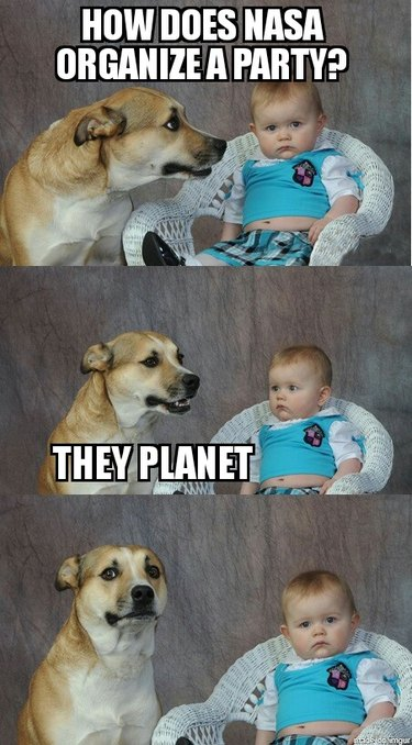 Dog with baby.