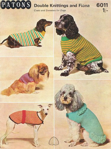 Pattern for dog coats from the 1960's