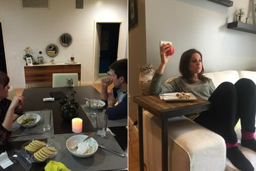 Couple Photographs 2 Years Of Cute Cat Creeping Their Dinners