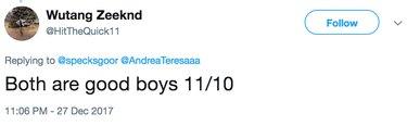 good boys on scale tweet