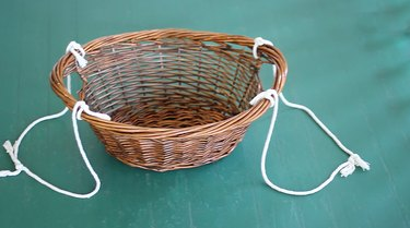Ropes tied on both sides of the basket