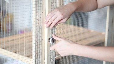 Installing a door knob