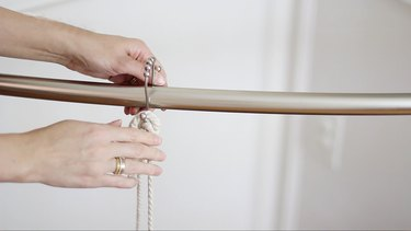 Hanging S-hooks on tension rod