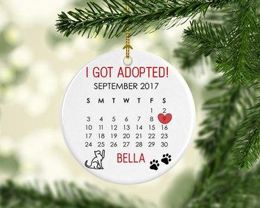 cat adoption ornament