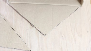 cutting box flap into triangle