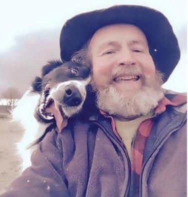 dad dog smiling