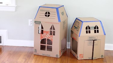 A pass-through hole cut out on both boxes
