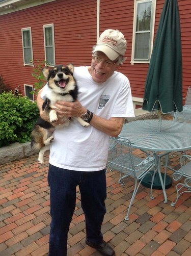 Stephen King and his dog
