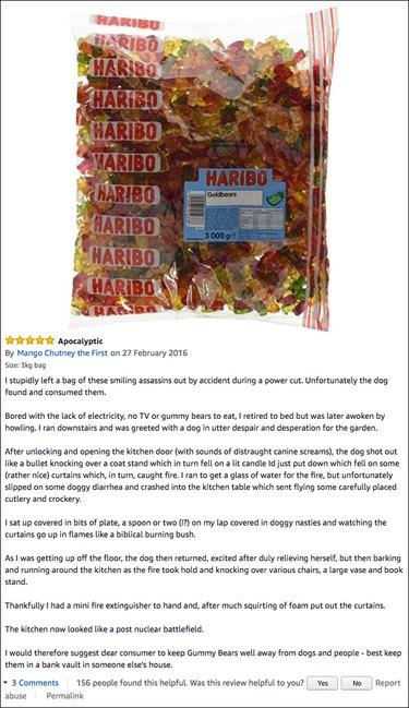 Funny Amazon reviews (gummy bears)