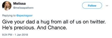 give them all hugs tweet