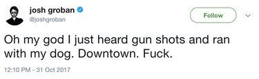 groban gunshot tweet