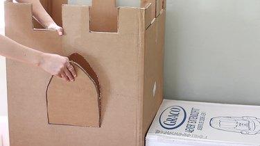 Cutting window arches in box