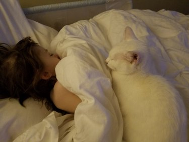 charley and angel snuggles
