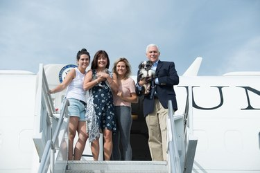 Vice President Pence gifted with new puppy and kitten for Father's Day