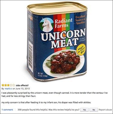 Funny Amazon reviews (unicorn meat)