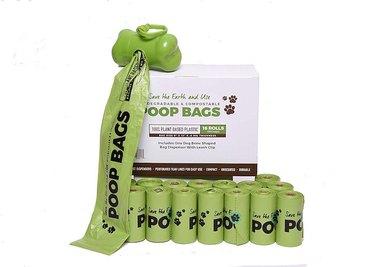 Compostable poop bags.
