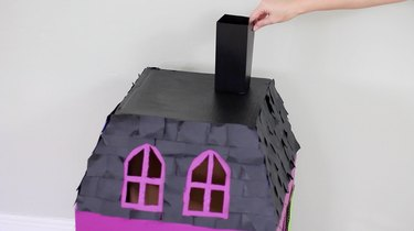 Gluing chimney to roof