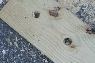 Small holes to give jigsaw a start