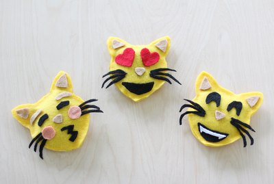 How To Make No-Sew Emoji Catnip Toys