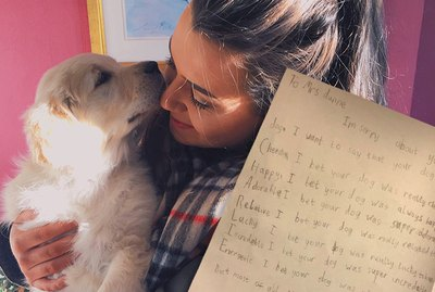 Little Boy Writes Beautiful Poem For His Teacher After Her Dog Dies