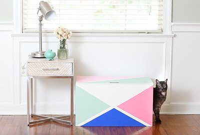 How To Make A Stylish Litter Box From An Old Toy Chest