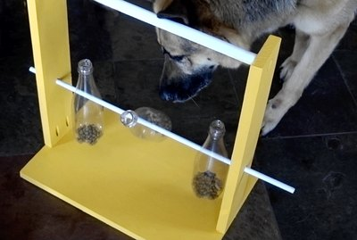 How to Make A Spinning Bottle Puzzle Feeder For Dogs