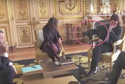 French President's Pup, Nemo, Just Peed In A Fireplace During A Meeting Because Dogs