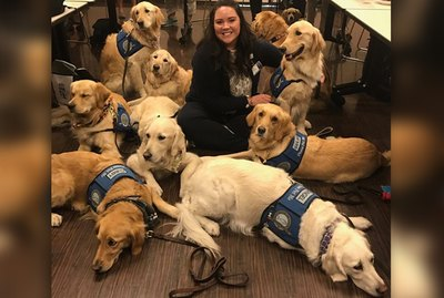 Pull The Kleenex Close Because A Bunch Of Service Dogs Just Visited A Hospital In Las Vegas
