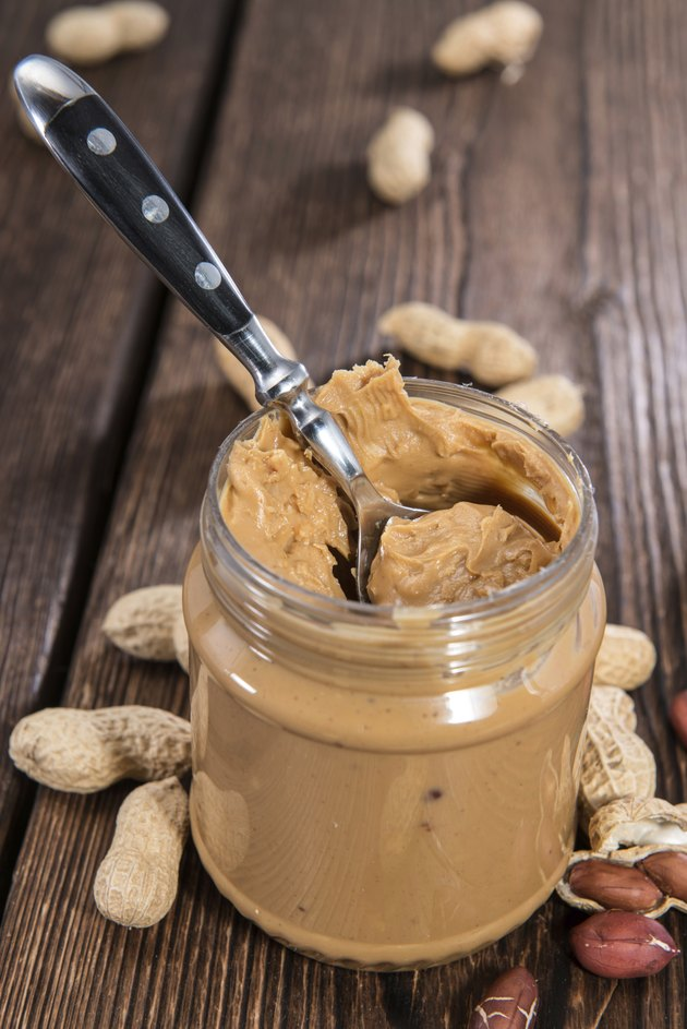 Glass with Peanut Butter