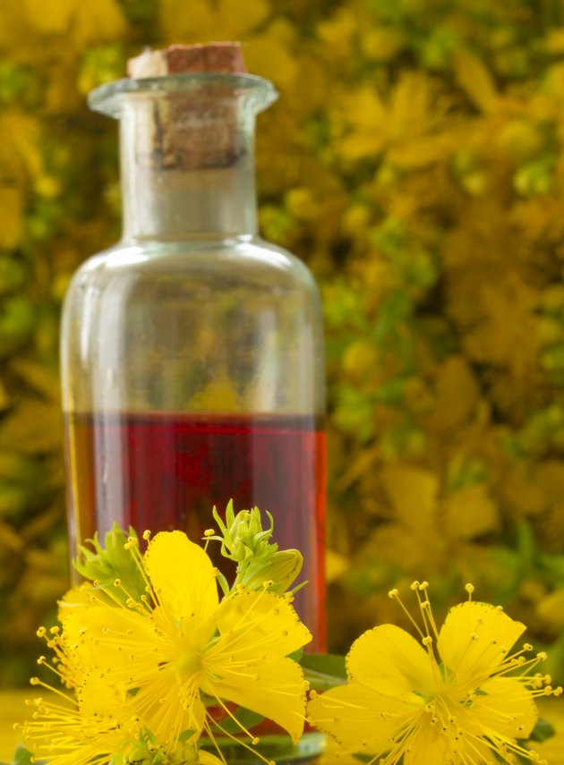 Oil made with St John's wort