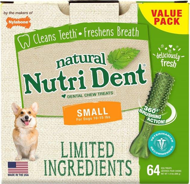 Nylabone Fresh Breath Dental Dog Chew Treats