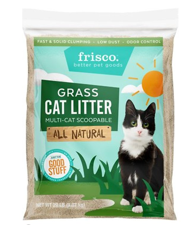 A bag of Frisco Grass Cat Litter