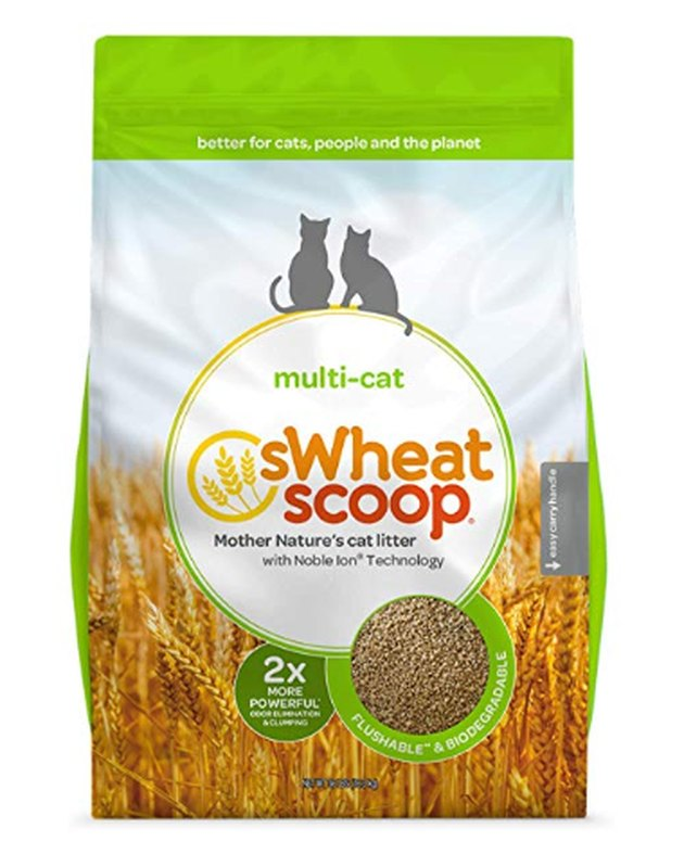 A bag of sWheat Scoop cat litter