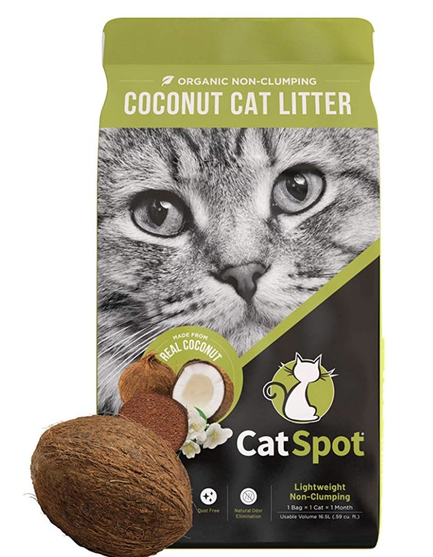 A bag of CatSpot Coconut Litter