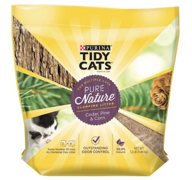 A bag of Tidy Cats Pure Nature Cat Litter