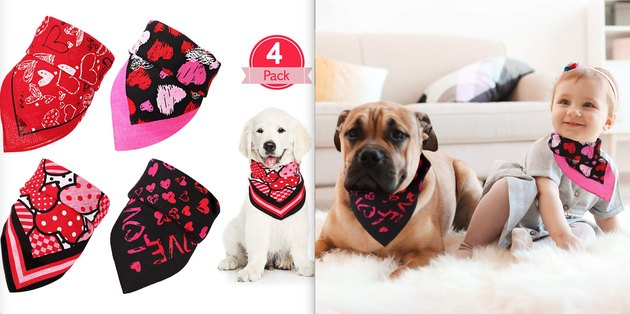 novelty holiday bandanas for pets