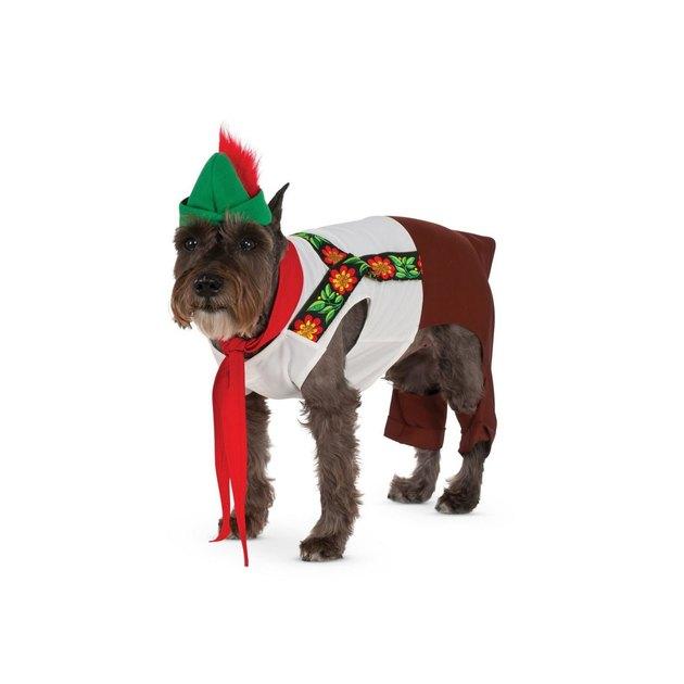 Lederhosen Halloween costume for dogs