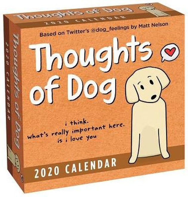 cover art for Thoughts of Dog 2020 calendar