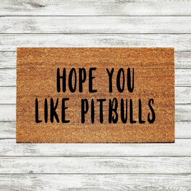 pit bull welcome mat