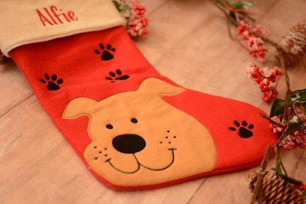 Happy dog stocking